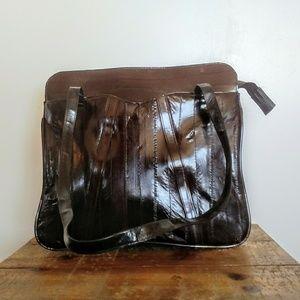 Vintage Eelskin Shoulder Bag